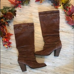 {Steve Madden} Evvie brown suede boot size 8